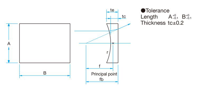 Drawing Of Plano Concave Cylindrical Lens